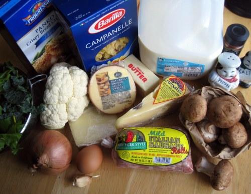 Mac & Cheese Ingrediments
