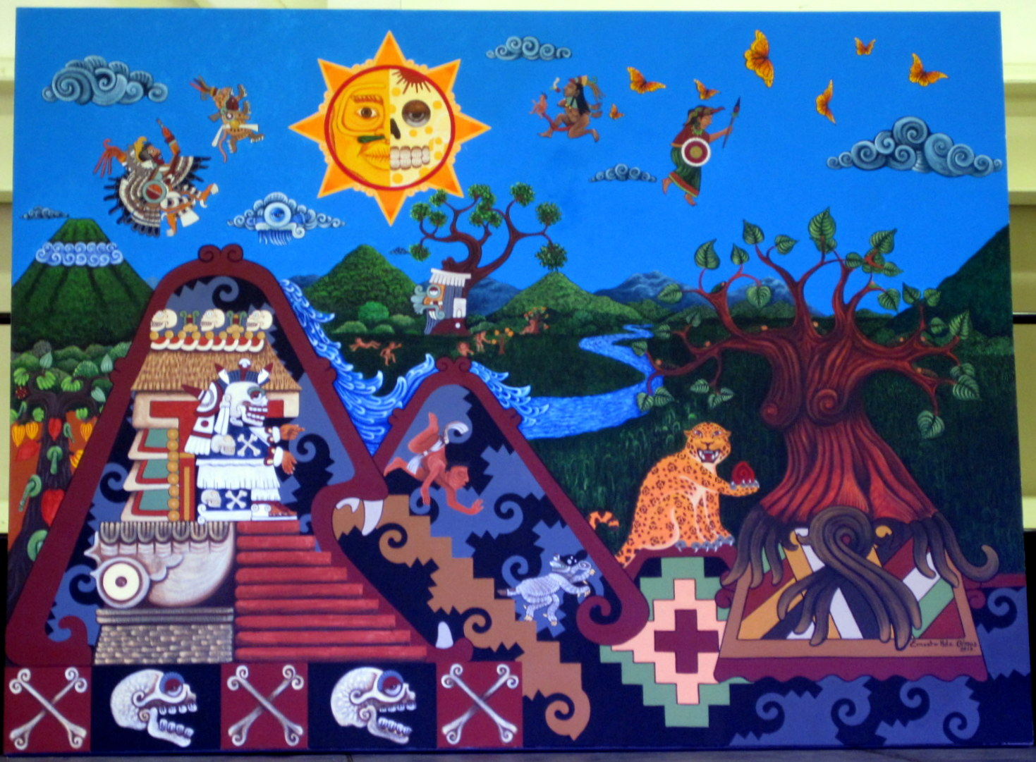 Dia de los muertos dianne faw for Dia de los muertos mural