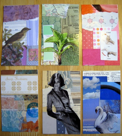 Six 5-Minute Collages