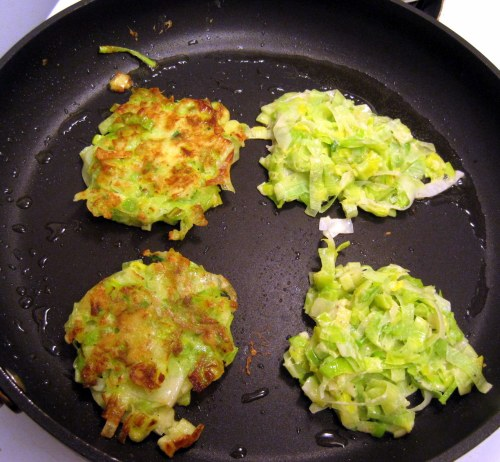 Cooking Leek Fritters