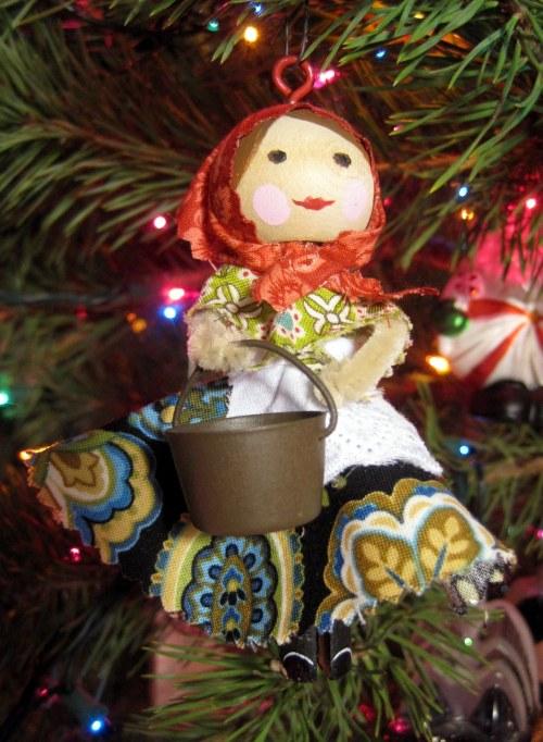 Babushka with a pot