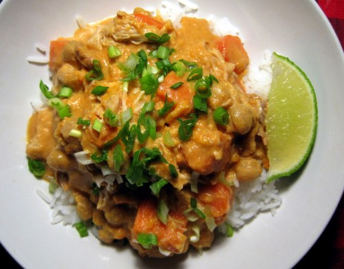 Curried Chicken over Rice