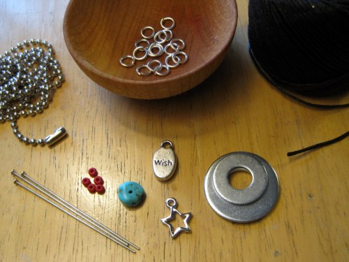Washer necklace embellishments