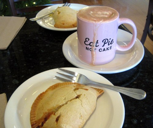 Egg and Bacon Hand Pies & Hot Chocolate