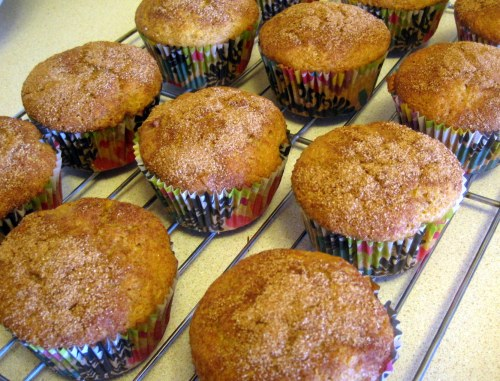 Muffins on a rack