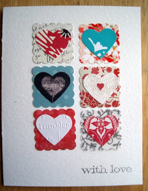6 Scalloped Squares & Hearts