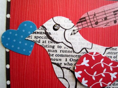 Turquoise Heart Bird
