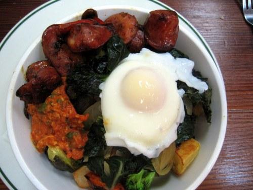 Poached Egg Veggie Bowl