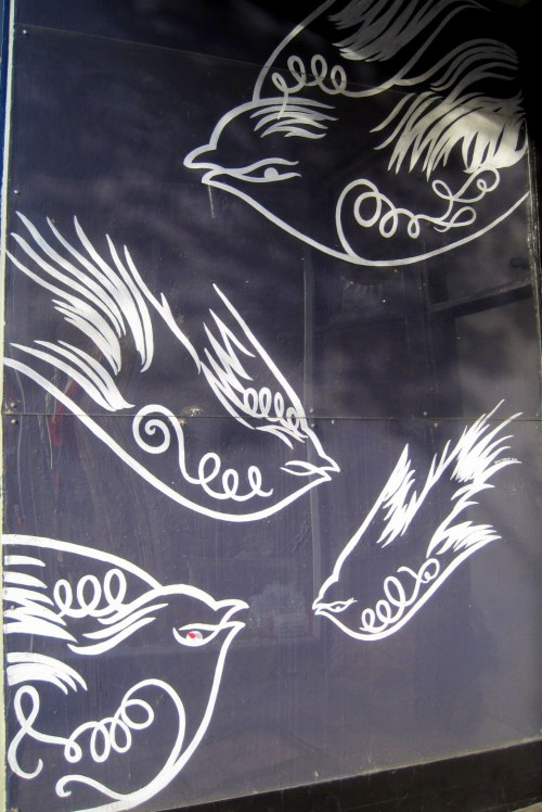Graffiti style doves