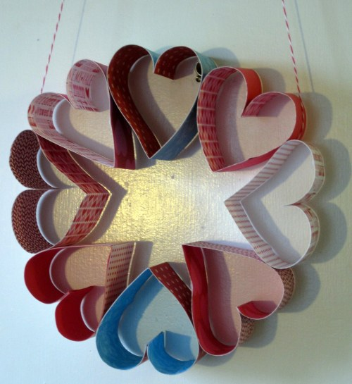Paper Heart Wreath