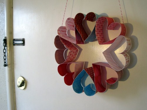 Heart Wreath on door
