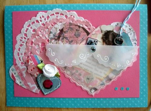 Pretty Pink & Turquoise Valentine