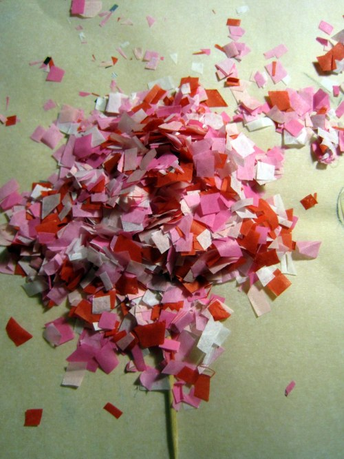 Dump on confetti