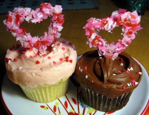 Confetti Cupcake Toppers