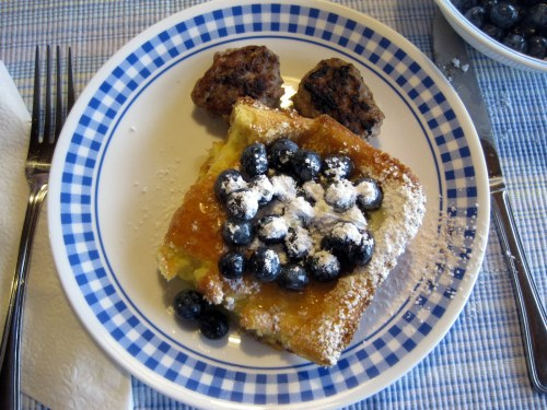 Dutch Baby with Blueberries