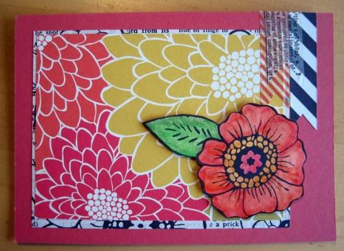 Big Flowers Card