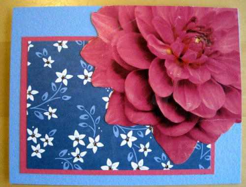 Big Pink Flower card