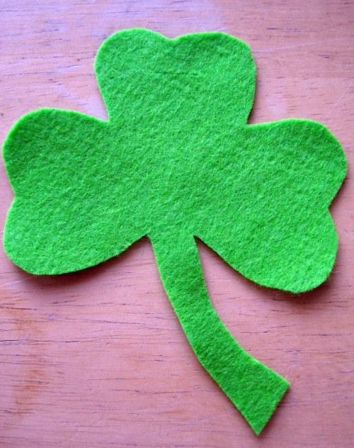 Bright green shamrock