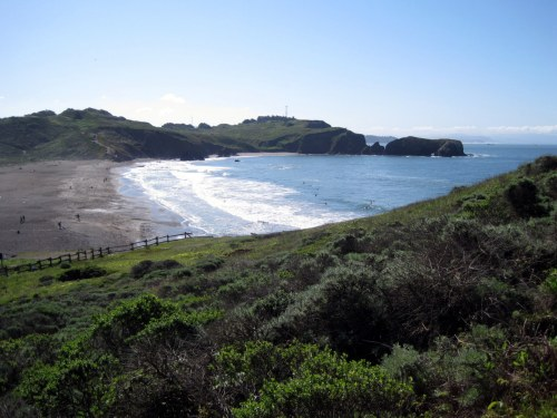 Overlooking Rodeo Beach