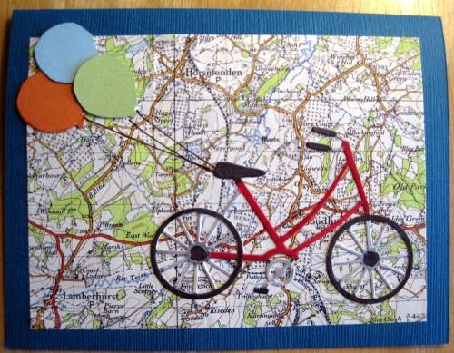 Bicycle Map Balloons