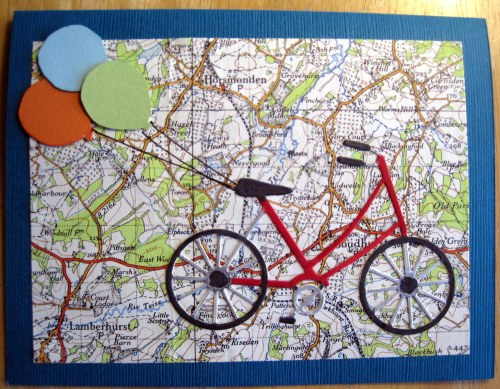 Bicycle Map Balloons