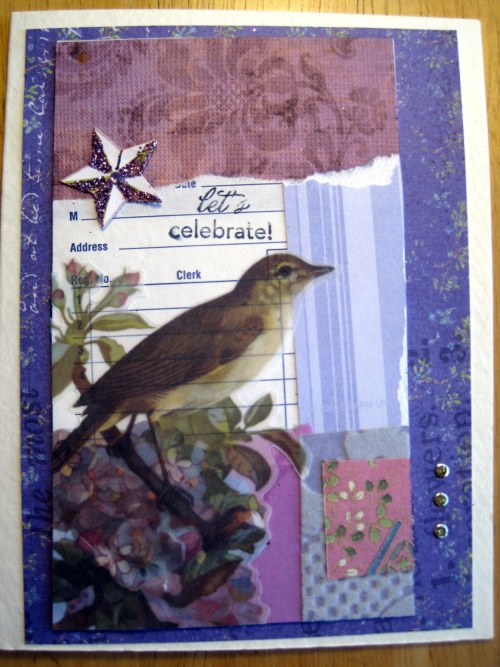 Purple Collage Card