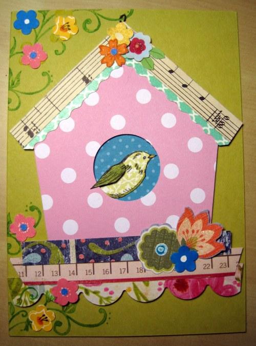 Pink Polka Dot Birdhouse