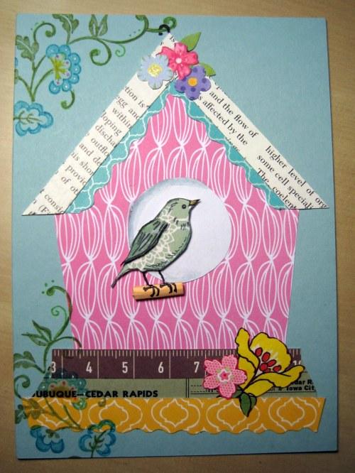 Pink Patterned Birdhouse