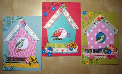 Trio of Birdhouse Cards