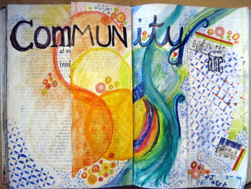 Folding Pages in Art Journal
