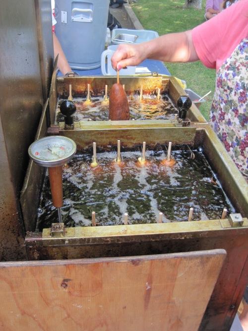 Vat of Frying Corn Doggies