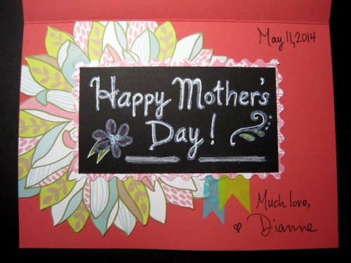Happy Mother's Day card inside