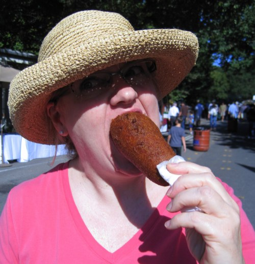 Big Bite of Giant Corn Dog