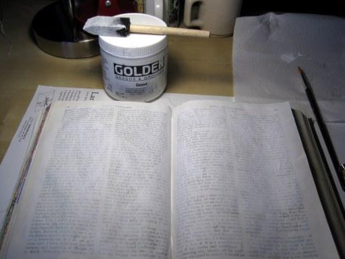 Gesso'd pages