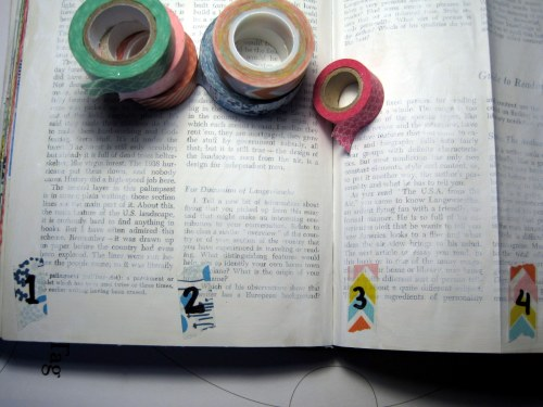 Number Sections with Washi
