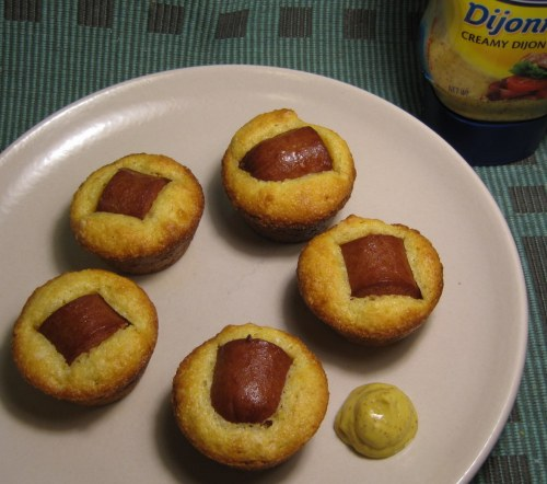 Baked Baby Corn Dogs