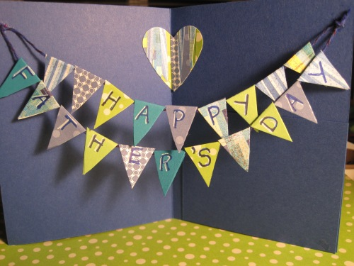 Father's Day Pennant Card