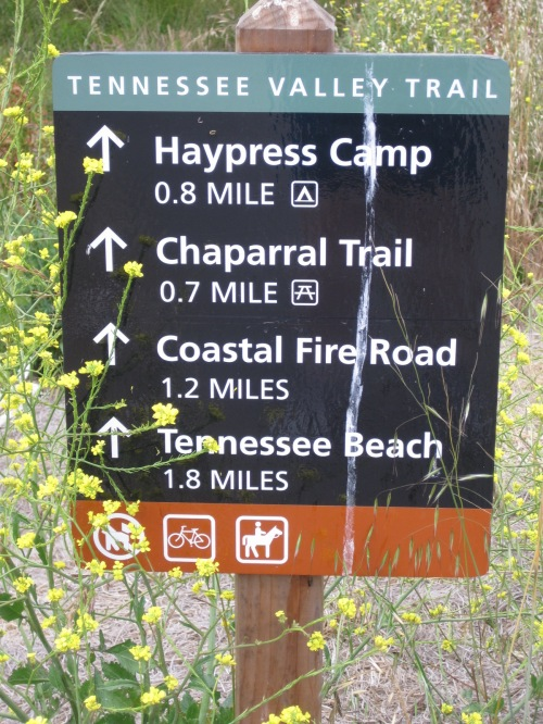 Trail Sign to Tennessee Beach