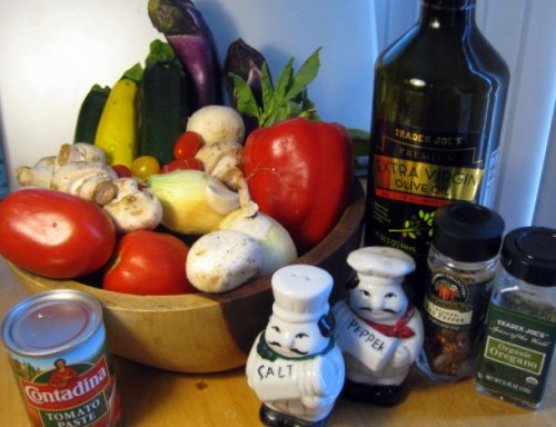 Ratatouille Ingredients