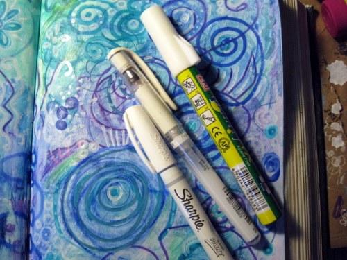 white pens