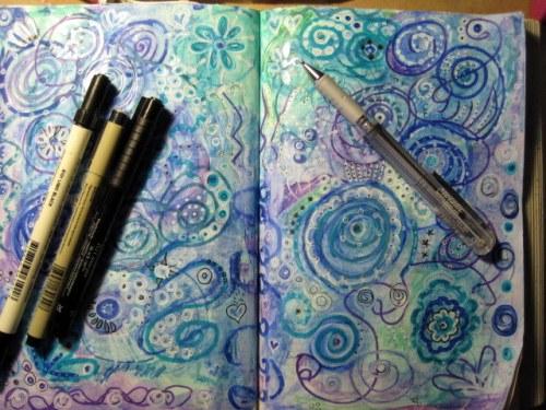 black & silver pens