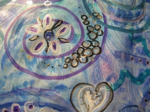 Flower, bubbles & heart