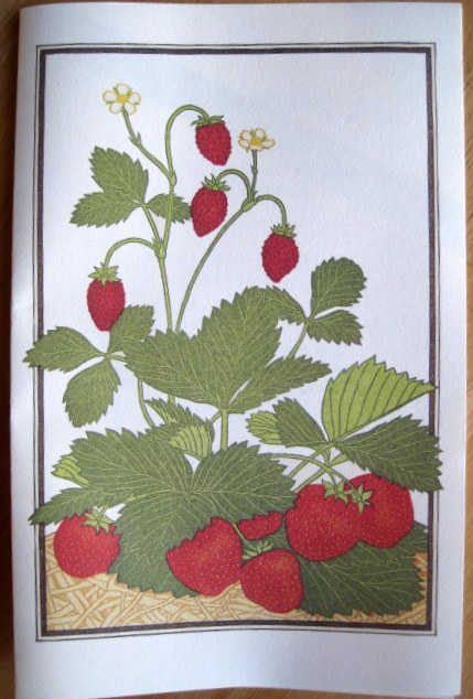 strawberry printed menu