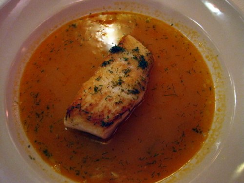 Halibut in broth