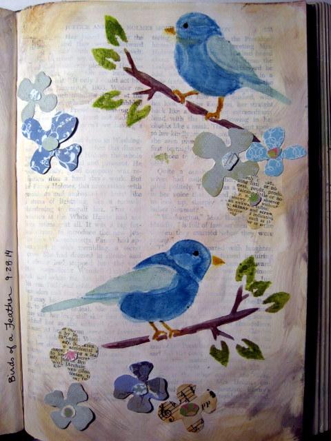 Stenciled Birds