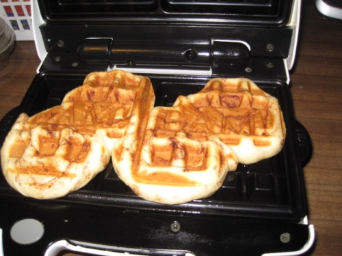 Rolls on the waffle iron
