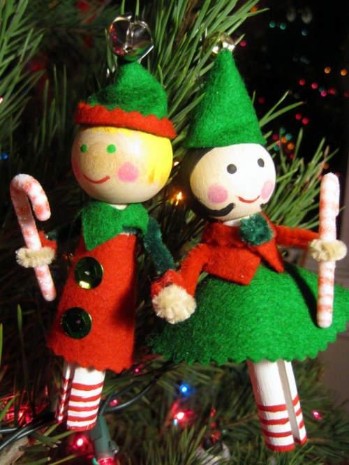 Clothespin Doll Elves